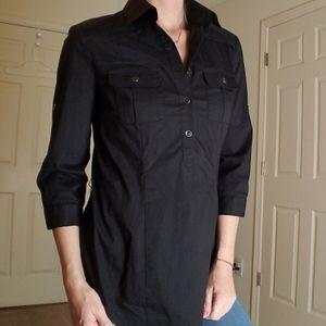 New York & Company Black Button Up Shirt